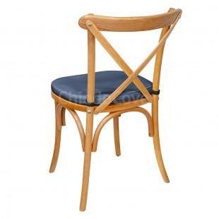 Подушка 01 для стула Кроссбэк, 3см, синяя