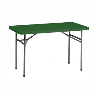 Стол Виктория 120 зеленый, со складным подстольем