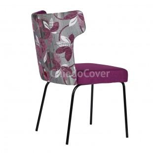 Полукресло Огаста фиолетовый, комбинированный, ножки металлические