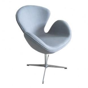 Кресло Swan Chair светло-серый кашемир