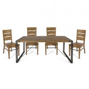 Комплект обеденный с деревянными стульями