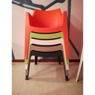 Кресло пластиковое Coccolona, антрацит