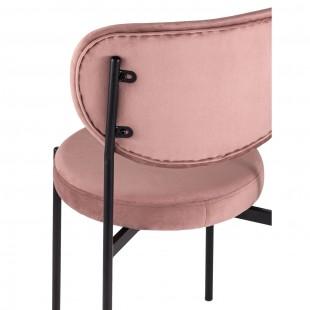 Стул Барбара велюр пыльно-розовый