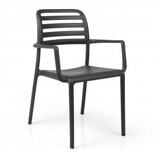 Кресло пластиковое Costa, антрацит