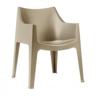 Кресло пластиковое Coccolona, тортора