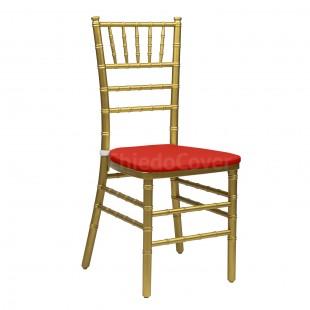 Подушка 01 для стула Кьявари, 2см, красная
