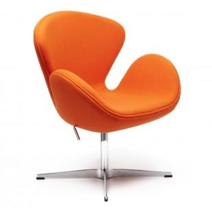 Кресло Swan Chair оранжевый кашемир