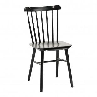 Комплект Такер, 4 черных стула