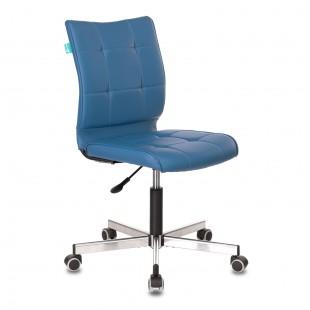 Кресло CH-330M без подлокотников, искусственная кожа синий