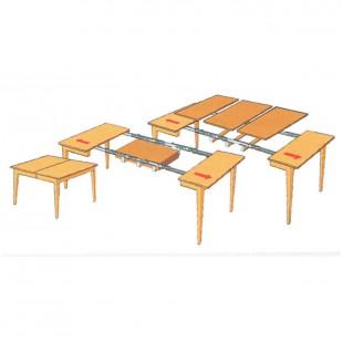 Обеденный стол Людовик плюс