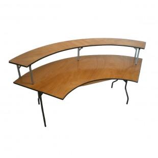 Складной двухъярусный банкетный стол