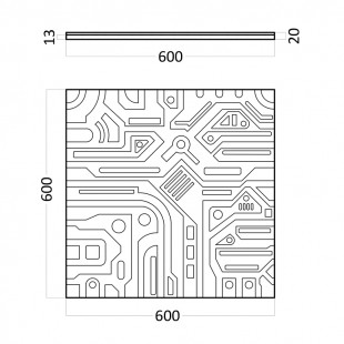 Гипсовая 3д панель Ex-Machine