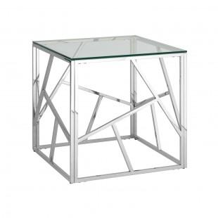 Журнальный столик Арт Деко 55 x 55 серебро