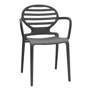 Кресло пластиковое Cokka, антрацит