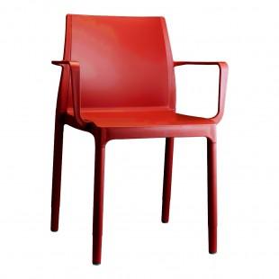 Кресло пластиковое Chloe Trend Mon Amour, красный