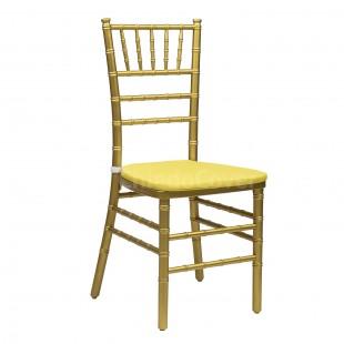 Подушка 01 для стула Кьявари, 2см, желтая
