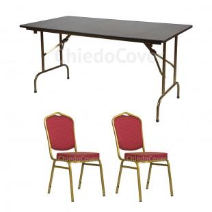 Обеденная группа стол Лидер 1, 2 стула Хит 20мм