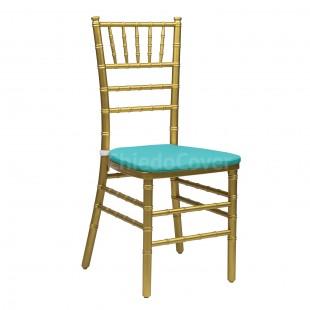 Подушка 01 для стула Кьявари, 2см, бирюзовая