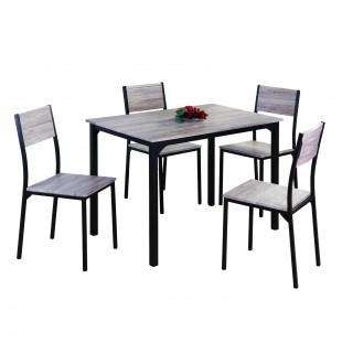 Комплект мебели Anako, стол 1000x700 и 4 стула