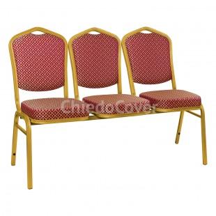 Секция из 3 стульев Хит - золото, ромб красный