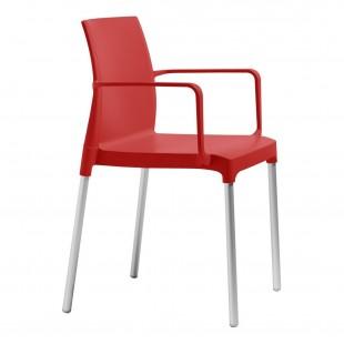 Кресло пластиковое Chloe Mon Amour, красный