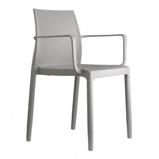 Кресло пластиковое Chloe Trend Mon Amour, светло-серый