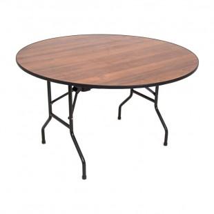 Стол Лидер 3, D1500, орех, черный