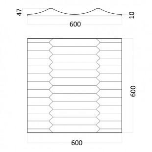 Гипсовая 3д панель Ruffle