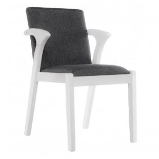 Деревянный стул Artis белый/ серый