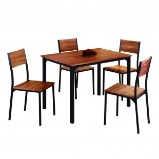 Комплект мебели Anako, стол 1000x700 и 4 стула, хейзел