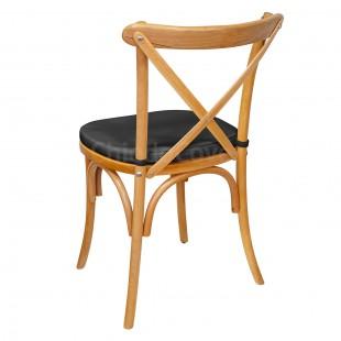 Подушка 01 для стула Кроссбэк, 3см, черная