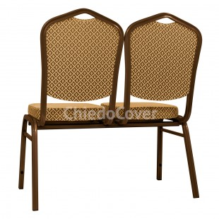 Секция стульев Хит - коричневый, ромб коричневый