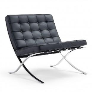 Кресло Barcelona chair черный