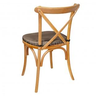 Подушка 01 для стула Кроссбэк, 3см, коричневая