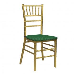 Подушка 01 для стула Кьявари, 2см, зеленая