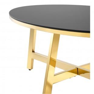 Журнальный стол 100*50 Альба золото стекло черное