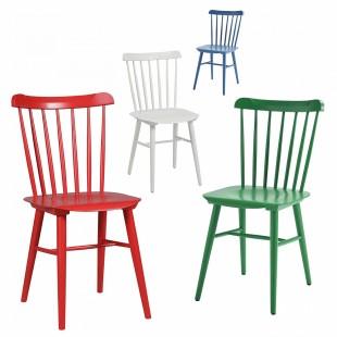 Комплект Такер, 4 стула красный, зеленый, белый, синий